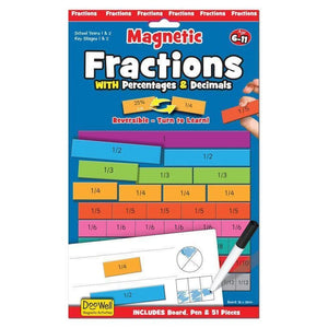 Fiesta Crafts Magnetic Learning Activities Fractions