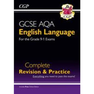 GCSE English Language AQA Complete Revision & Practice - Grade 9-1 Course (with Online Edition) - CGP Books 9781782944140