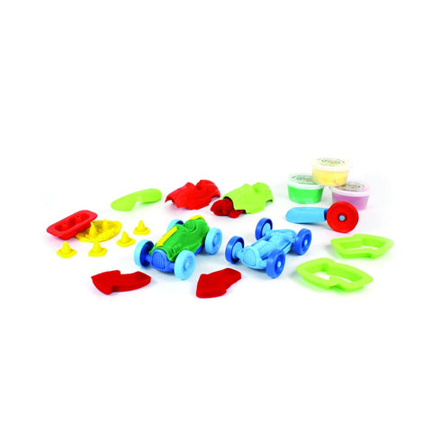 Image of Green Toys Race Car Maker Dough Set (3925754970154)
