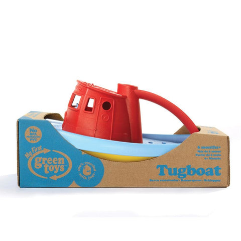 Image of Green Toys Tugboat with red handle - 793573680877