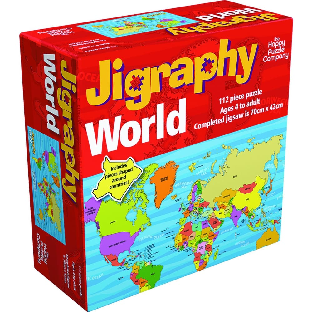 Happy Puzzle Jigraphy World Map