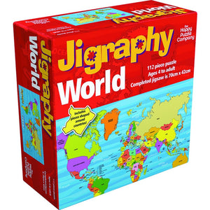 Happy Puzzle Jigraphy World Map - Company