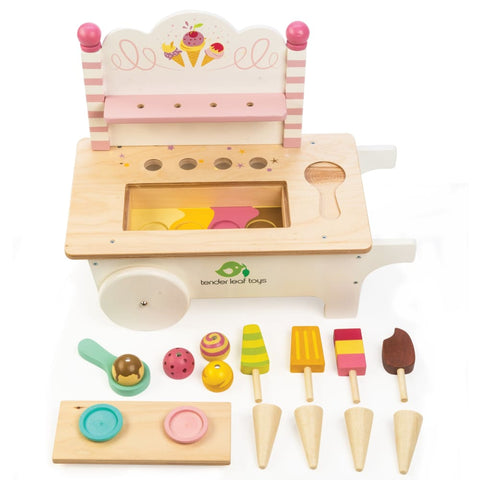 Image of Ice Cream Cart - Tender Leaf Toys