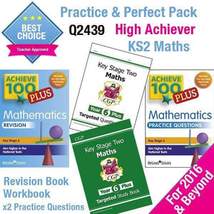 KS2 Maths High Achiever Practice & Perfect Pack - BrightMinds Revision Packs