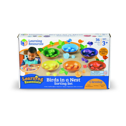 Image of Learning Resources Birds In A Nest Sorting Set - 765023055542