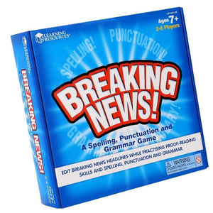 Learning Resources Breaking News S P a G Game - 765023503418