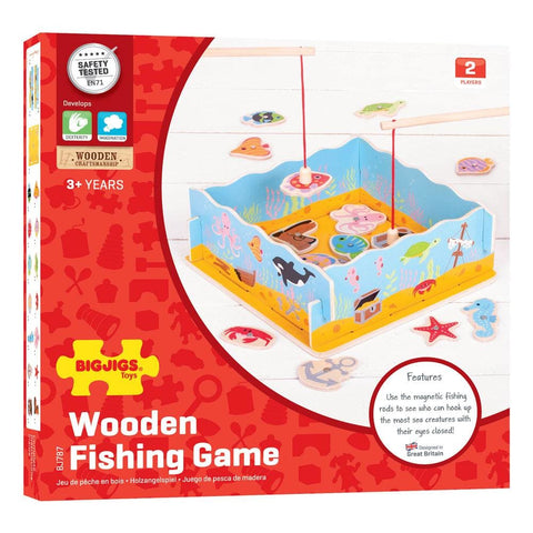 Image of Magnetic Fishing Game with Base - Bigjigs Toys 691621197875