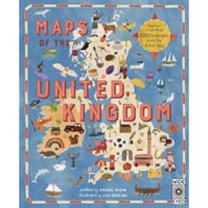 Maps of the United Kingdom - Wide Eyed Editions 9781786030252