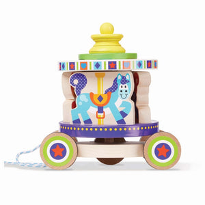 Melissa and Doug Carousel Pull Toy - 000772136167