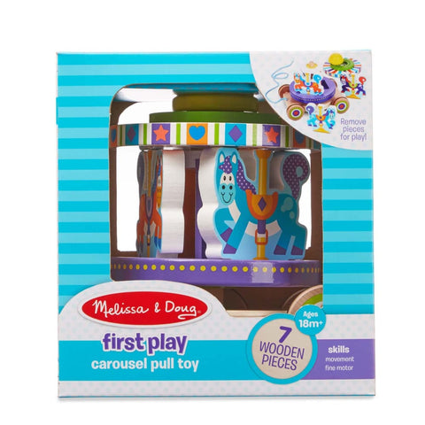 Image of Melissa and Doug Carousel Pull Toy - 000772136167
