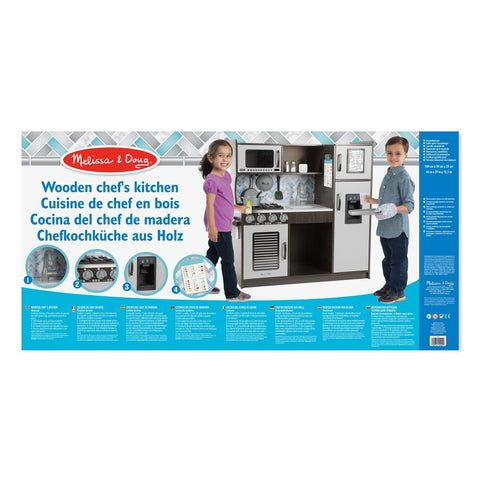 Image of Melissa and Doug Chefs Kitchen-Charcoal