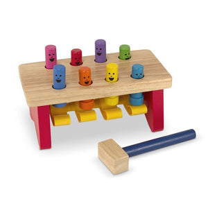 Melissa and Doug Deluxe Pounding Happy Bench - 000772044905