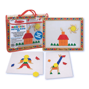 Melissa and Doug Magnetic Pattern Block Kit.