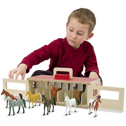 Image of Melissa and Doug Show-Horse Stable - 772137447