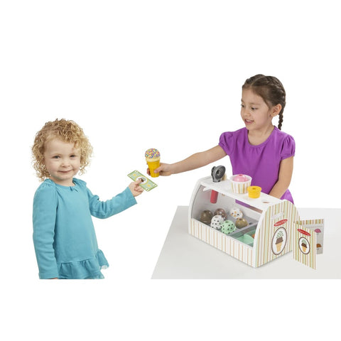Image of Melissa and Doug Wooden Ice Cream Counter - 000772192866