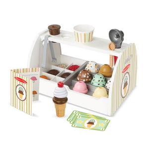 Melissa and Doug Wooden Ice Cream Counter - 000772192866