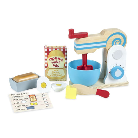 Image of Melissa and Doug Wooden Make-a-Cake Mixer Set