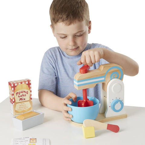 Image of Melissa and Doug Wooden Make-a-Cake Mixer Set - 000772198400