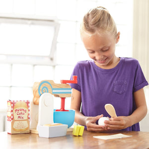 Melissa and Doug Wooden Make-a-Cake Mixer Set