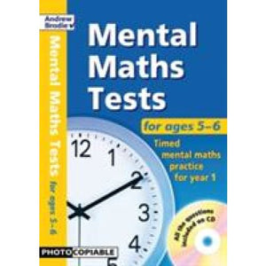 Mental Maths Tests for Ages 5-6 - Bloomsbury Publishing 9781408192429