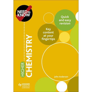 Need to Know: Higher Chemistry - Hodder Education 9781510451209