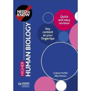 Need to Know: Higher Human Biology - Hodder Education 9781510451162