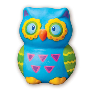 Paint Your Own Mini Owl Bank - 4M Great Gizmos 4893156046994