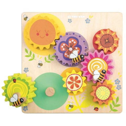 Image of Petilou Gears & Cogs 'Busy Bee Learning' - Le Toy Van 5060023420952
