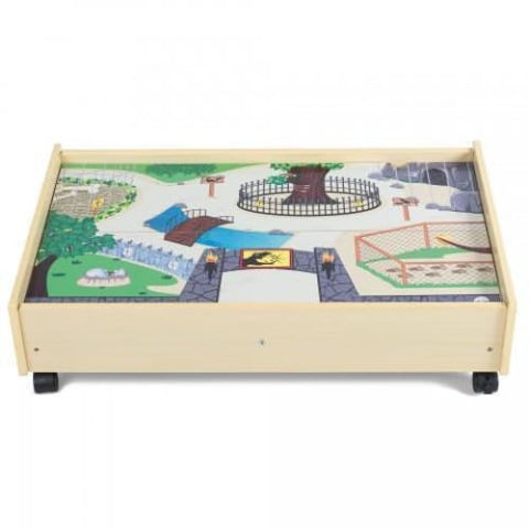 Image of Plum Wooden Activity Table & Benches
