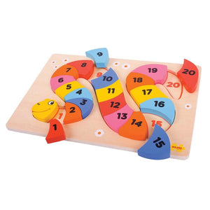 Snake Counting Wooden Puzzle - Bigjigs Toys 691621195178
