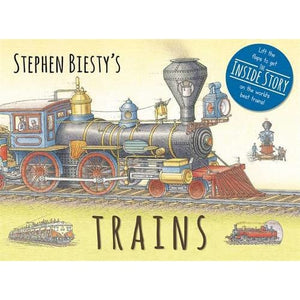 Stephen Biesty's Trains: Cased Board Book with Flaps - Templar Publishing 9781783704248