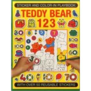 Sticker and Colour-in Playbook: Teddy Bear 123: With Over 50 Reusuable Stickers - Anness Publishing 9781861477460