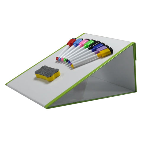 Image of Tabletop Magic Magnetic Whiteboard Easel A3 with 8 pens & eraser - 5060182800855