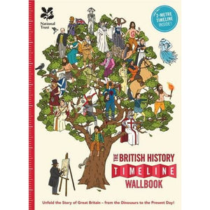 The British History Timeline Wallbook: Unfold the Story of Great Britain - from Dinosaurs to Present Day! - What on Earth Publishing