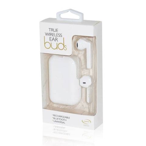 Image of True wireless ear buds white coloured - Gadget Store 5060003297239