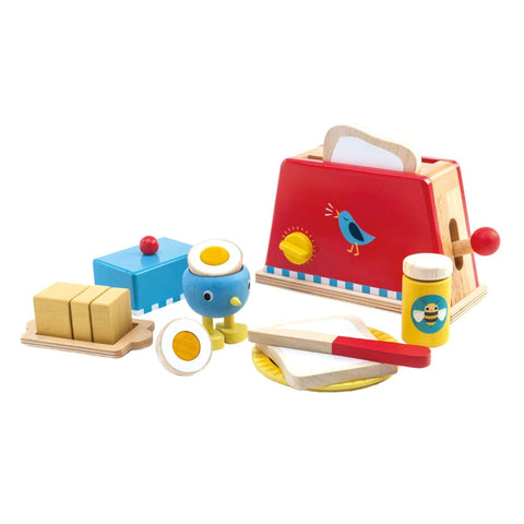 Image of Wooden Toaster and Egg Set - Tender Leaf Toys