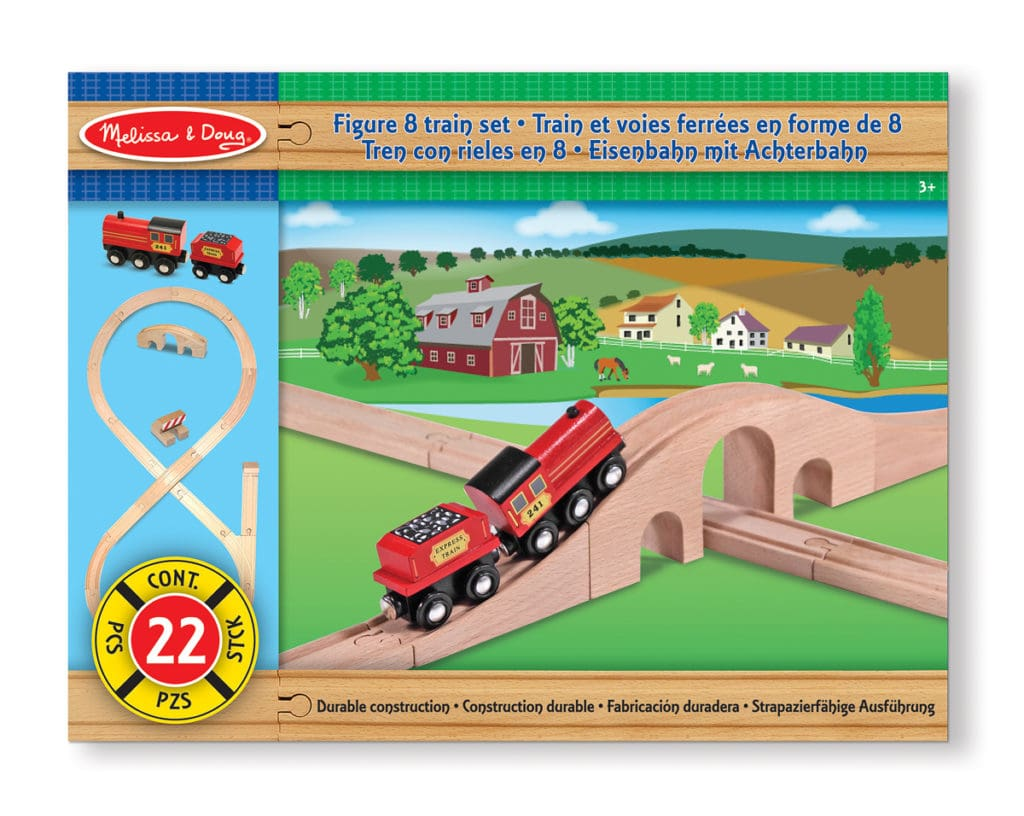 Melissa and Doug wooden train set