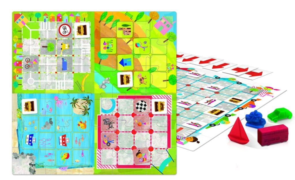 image of a doublesided coding. BrightMinds toys board game