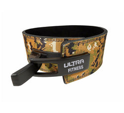 10mm Leather Lever Buckle Belt Camo - ULTRA FITNESS