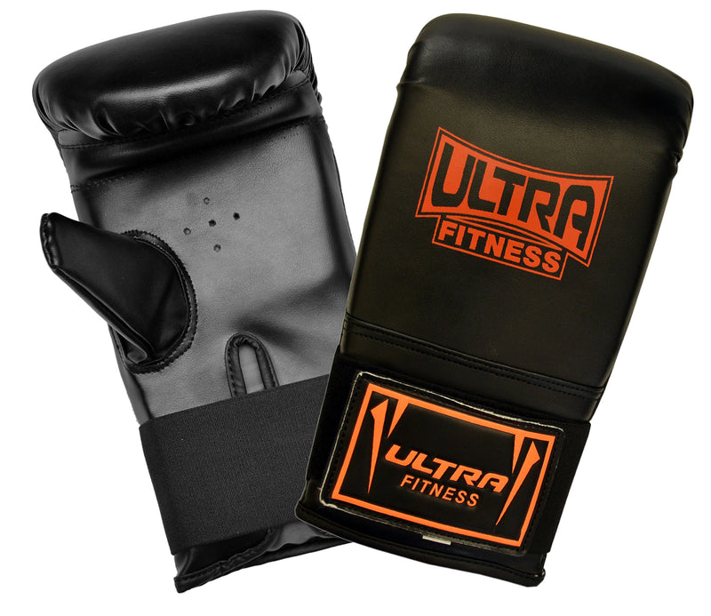 ULTRA FITNESS Punch Bag set with Bracket (Black and Orange) - ULTRA FITNESS