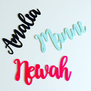 Personalised acrylic name sign
