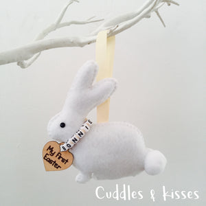 Personalised felt bunny