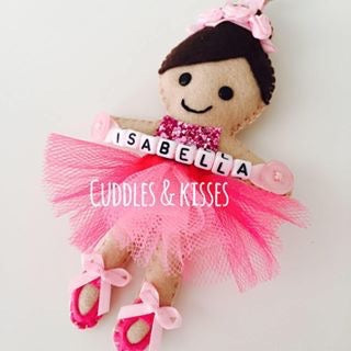 Personalised princess bag charm