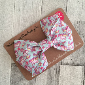 Mint unicorn bonnie bow