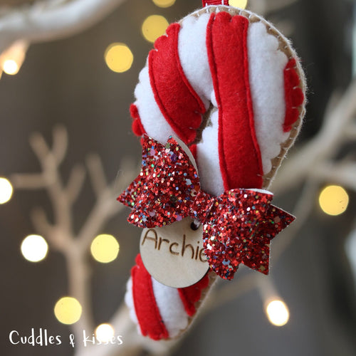 Red candy cane decoration