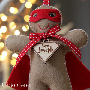 Super hero gingerbread man