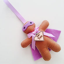 Lilac Gingerbread Superhero Decoration