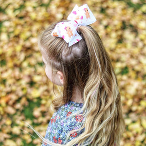 Gingerbread ribbon poppy bow