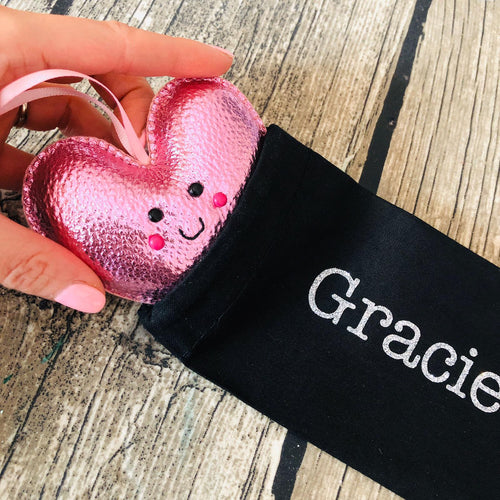 Heart with personalised pouch