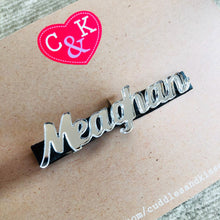 Personalised mirrored name clip